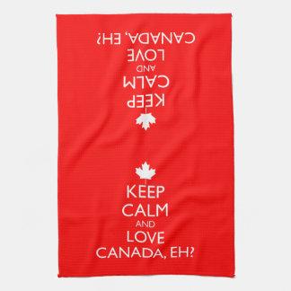 KEEP CALM AND LOVE CANADA, EH? TEA TOWEL