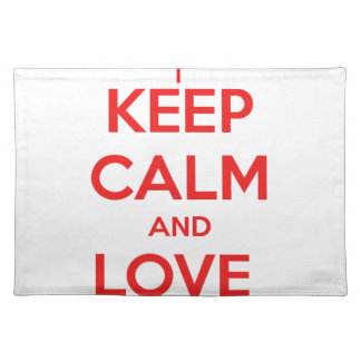 KEEP CALM AND LOVE CANADA PLACEMAT