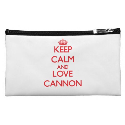 Keep Calm and Love Cannon Cosmetic Bags