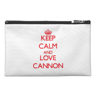 Keep Calm and Love Cannon Travel Accessory Bags