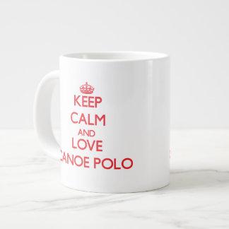 Keep calm and love Canoe Polo Jumbo Mugs