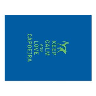 Keep Calm and Love Capoeira Postcard