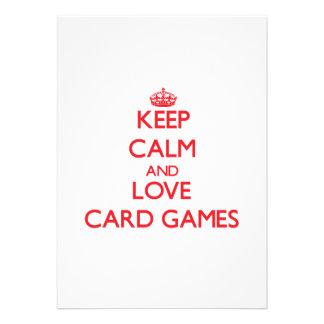 Keep calm and love Card Games