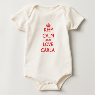 Keep Calm and Love Carla Baby Bodysuit