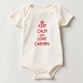 Keep Calm and Love Carmen Baby Bodysuit