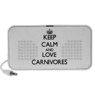 Keep calm and Love Carnivores Notebook Speakers