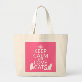 Keep Calm and Love Cats Canvas Bag