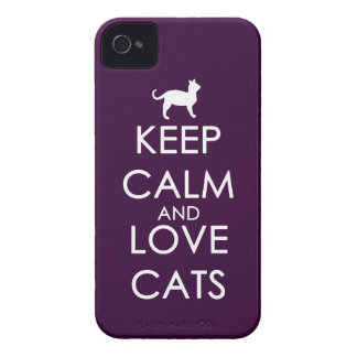 Keep Calm and Love Cats iPhone 4 Cases