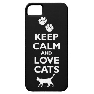 keep calm and love cats feline pet pets cat furry case for the iPhone 5