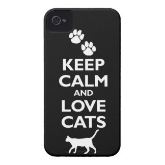 keep calm and love cats feline pet pets cat furry iPhone 4 covers