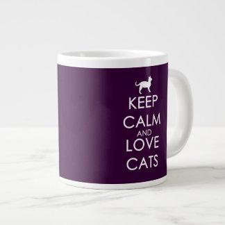 Keep Calm and Love Cats Giant Coffee Mug