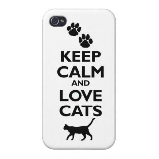 Keep calm and love CAts iPhone 4/4S Cover