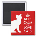 Keep calm and love cats magnet | Customisable