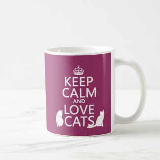 Keep Calm and Love Cats Mugs