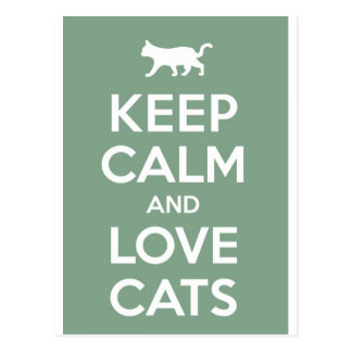 Keep Calm and Love Cats Postcards