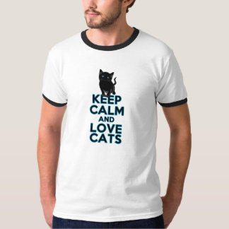 Keep Calm and Love Cats Shirts