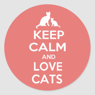 Keep Calm and Love Cats Stickers