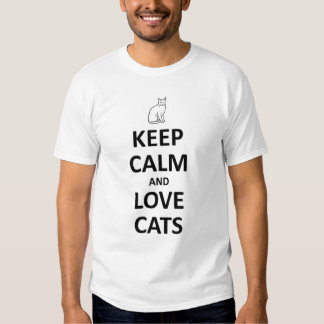Keep calm and love cats tshirt
