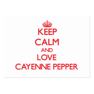 Keep calm and love Cayenne Pepper Business Card Template