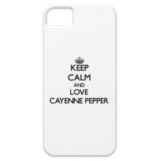 Keep calm and love Cayenne Pepper iPhone 5 Case