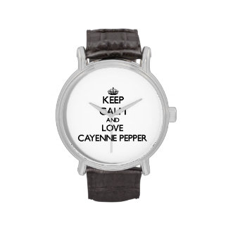 Keep calm and love Cayenne Pepper Wrist Watch