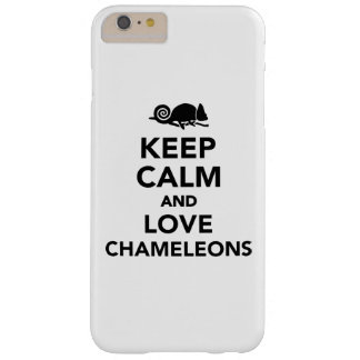 Keep calm and love chameleons barely there iPhone 6 plus case
