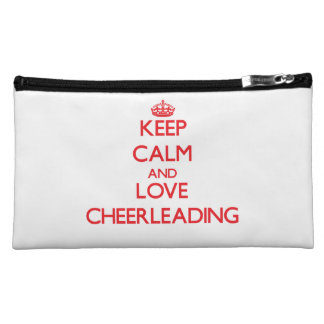 Keep calm and love Cheerleading Cosmetic Bags