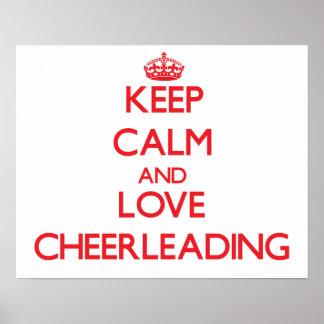 Keep calm and love Cheerleading Print