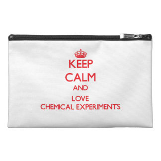 Keep calm and love Chemical Experiments Travel Accessories Bag