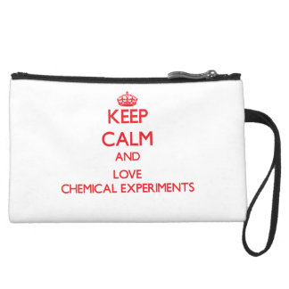 Keep calm and love Chemical Experiments Wristlet Purse