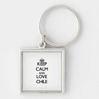 Keep Calm and Love Chile Keychain