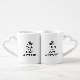 Keep calm and Love Chipmunks Lovers Mug Set