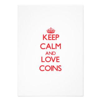 Keep calm and love Coins Custom Invite