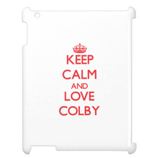 Keep Calm and Love Colby iPad Case