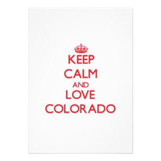 Keep Calm and Love Colorado Invitations