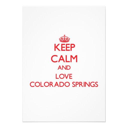 Keep Calm and Love Colorado Springs Custom Invitations