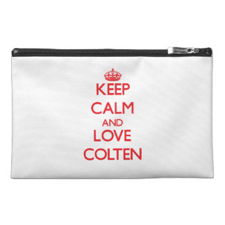 Keep Calm and Love Colten Travel Accessories Bag