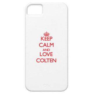 Keep Calm and Love Colten iPhone 5 Cases