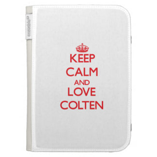 Keep Calm and Love Colten Kindle 3 Covers