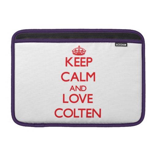 Keep Calm and Love Colten MacBook Air Sleeves
