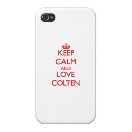 Keep Calm and Love Colten iPhone 4 Cover