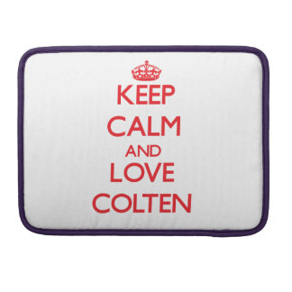 Keep Calm and Love Colten MacBook Pro Sleeves