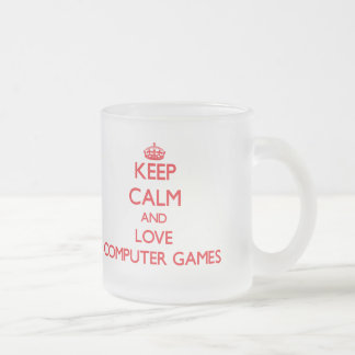 Keep calm and love Computer Games Coffee Mugs