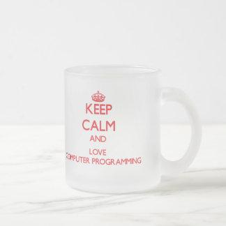Keep calm and love Computer Programming Coffee Mug