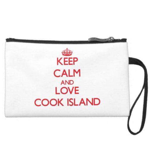 Keep Calm and Love Cook Island Wristlet