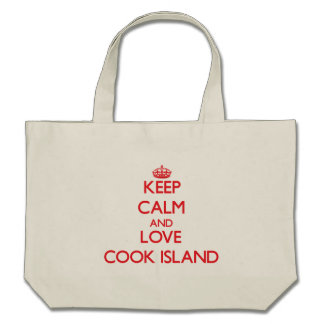 Keep Calm and Love Cook Island Canvas Bags