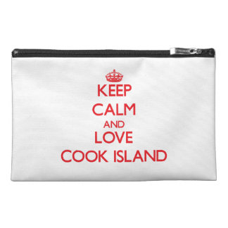 Keep Calm and Love Cook Island Travel Accessories Bag