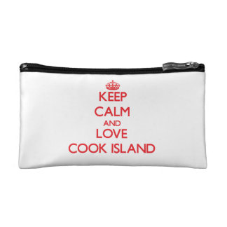 Keep Calm and Love Cook Island Makeup Bags