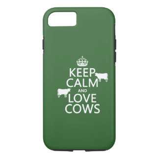 Keep Calm and Love Cows (all colors) iPhone 8/7 Case