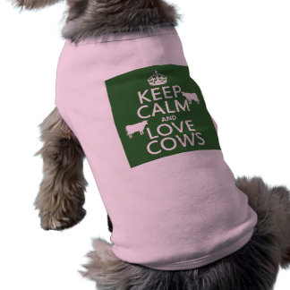 Keep Calm and Love Cows (all colors) Shirt